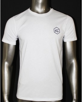"T-Shirt Col Rond  ""Basic KC"" Blanc"